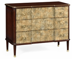 495822-EB002 Jonathan Charles Curated Chest Of Drawers With Eggshell Inlay & Brass Details