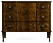 495822-LBM Jonathan Charles Brompton Brown Mahogany Chest Of Three Drawers