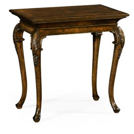 495828-LBM Jonathan Charles Traditional Brompton Collection Small Brown Mahogany End Table