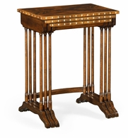 495830-LBM Jonathan Charles Brompton 3 Nesting Tables With Faux Bone Inlay