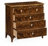 495832-LBM Jonathan Charles Brompton Small Chest Of Drawers With Bone Inlay On Top