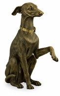 495833-BLT Jonathan Charles Curated Light Brass Whippet Dog