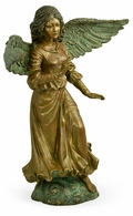 495834-BBA Jonathan Charles Curated Antique Light Brown Brass Angel