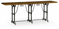 495856-DBW Jonathan Charles Fine Furniture JC Edited - Cambridge Caledonian Daniella & Iron Console Table