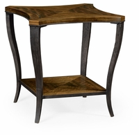 495859-DBW Jonathan Charles Fine Furniture JC Edited - Cambridge Curved Daniella & Burl Walnut Side Table