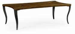 495866-DBW Jonathan Charles Fine Furniture JC Edited - Cambridge Large Square Curved Daniella & Burl Walnut Coffee Table