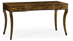 495867-DBW Jonathan Charles Fine Furniture JC Edited - Cambridge Inward Bow Front Daniella & Burl Walnut Desk