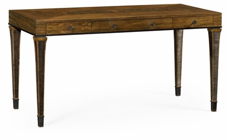 495869-DBW Jonathan Charles Fine Furniture JC Edited - Cambridge Rectangular Daniella & Burl Walnut Desk