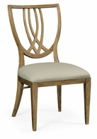 495877-SC-EBO-F001 Jonathan Charles Fine Furniture JC Edited - Cambridge Shield Back English Brown Oak Dining Side Chair, Upholstered In Mazo