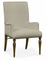 495879-AC-WBC-F001 Jonathan Charles Fine Furniture JC Edited - Cambridge Square Back Bleached Crotch Walnut Dining Armchair, Upholstered In Mazo