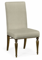 495879-SC-WBC-F001 Jonathan Charles Fine Furniture JC Edited - Cambridge Square Back Bleached Crotch Walnut Dining Side Chair, Upholstered In Mazo