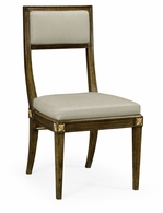 495880-WBC-F001 Jonathan Charles Fine Furniture JC Edited - Cambridge Open Back Bleached Crotch Walnut Dining Chair, Upholstered In Mazo