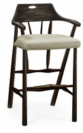 495887-BS-PDA-F001 Jonathan Charles Fine Furniture JC Edited - Casually Country Smokers Style Dark Ale Bar Stool, Upholstered In Mazo
