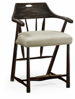 495887-CS-PDA-F001 Jonathan Charles Fine Furniture JC Edited - Casually Country Smokers Style Dark Ale Counter Stool, Upholstered In Mazo