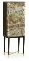 495893-CHW-BAE Jonathan Charles Fine Furniture JC Modern - Fusion Chinoiserie Style Charcoal & Antique Etched Brass Drinks Cabinet