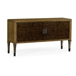 495900-EBO-BBW Jonathan Charles Casual JC Edited - Cambridge Collection Large Rectangular English Brown Oak & Dark Brown Burl Walnut Buffet