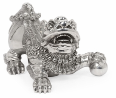 495937-STA Jonathan Charles Fine Furniture JC Modern - Indochine Antique Stainless Steel Foo Dog