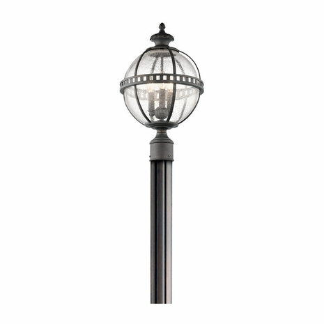 49604LD Kichler Traditional Lantern Outdoor Post Mount 3Lt