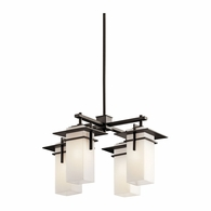 49638OZ Kichler Contemporary Outdoor Chandelier 4Lt