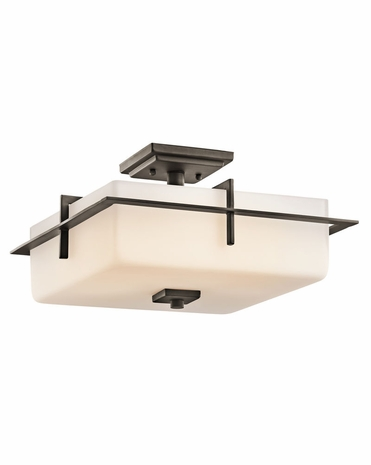 49641OZ Kichler Contemporary Outdoor Ceiling 3Lt Olde Bronze