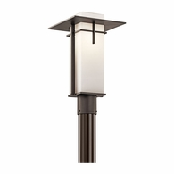 49646OZ Kichler Contemporary Outdoor Post Lantern Outdoor Post Mount 1Lt
