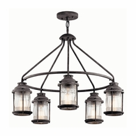 49667WZC Kichler Lodge Country Rustic Outdoor Chandelier 5Lt