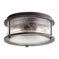 49669WZC Kichler Lodge Country Rustic Outdoor Flush & Semi Flush Mount Outdoor Ceiling 2Lt