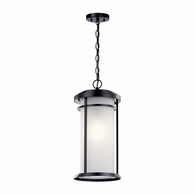 49689BK Kichler Transitional Outdoor Hanging Pendant 1Lt