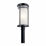 49690BK Kichler Transitional Lantern Outdoor Post Mount 1Lt