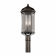 49712OZ Kichler Traditional Lantern Outdoor Post Mount 3Lt
