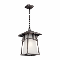 49725WZC Kichler Fixtures Arts and Crafts/Mission Weathered Zinc Outdoor Pendant 1Lt