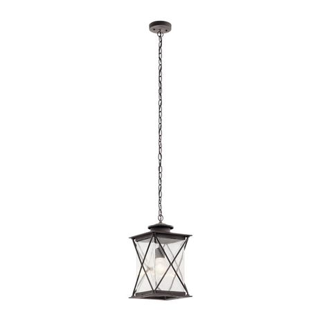 49747WZC Kichler Lodge Country Rustic Outdoor Hanging Pendant 1Lt