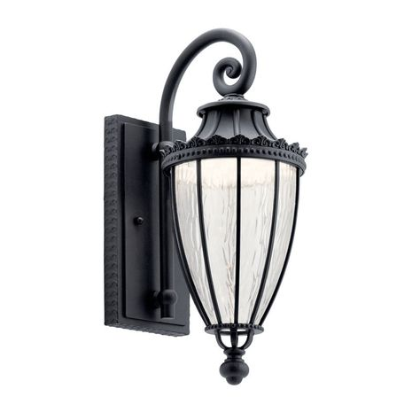 49751BKTLED Kichler Traditional - Medium Outdoor Wall 1Lt LED