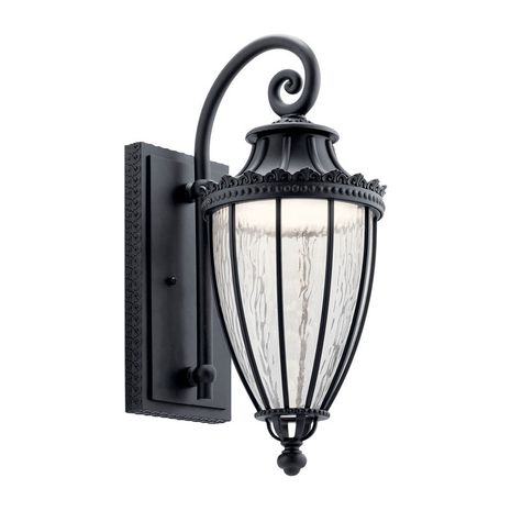 49752BKTLED Kichler Traditional - Large Outdoor Wall 1Lt LED