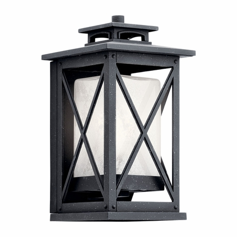 49770DBK Kichler Fixtures Traditional Distressed Black Outdoor Wall 1Lt