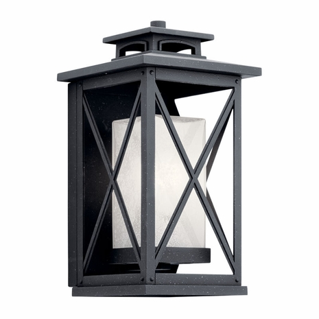 49771DBK Kichler Fixtures Traditional Distressed Black Outdoor Wall 1Lt