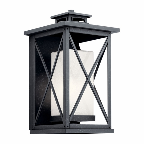 49772DBK Kichler Fixtures Traditional Distressed Black Outdoor Wall 1Lt