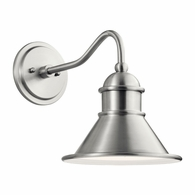 49775BA Kichler Fixtures Coastal Brushed Aluminum Outdoor Wall 1Lt