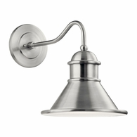 49776BA Kichler Fixtures Coastal Brushed Aluminum Outdoor Wall 1Lt