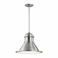 49777BA Kichler Fixtures Coastal Brushed Aluminum Outdoor Pendant 1Lt