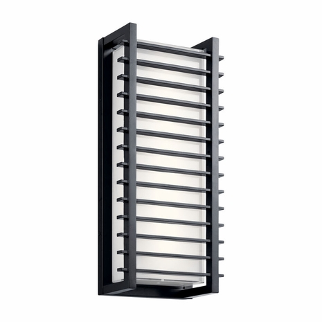 49786BKLED Kichler Contemporary - Large Outdoor Wall LED