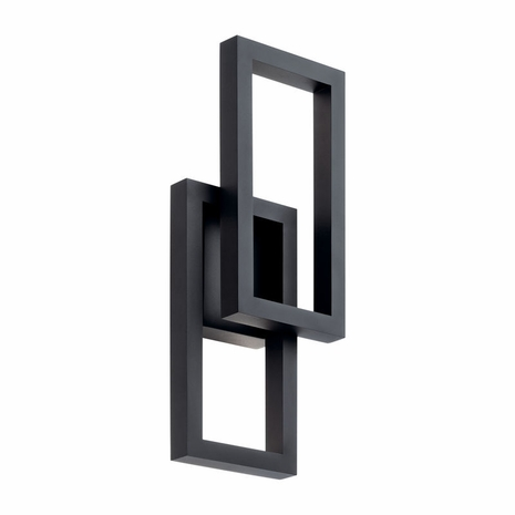 49802BKTLED Kichler Fixtures Contemporary Textured Black Outdoor Wall LED