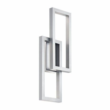 49803PLLED Kichler Fixtures Contemporary Platinum Outdoor Wall LED