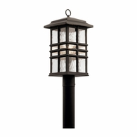 49832OZ Kichler Arts and Crafts Mission Lantern Outdoor Post Mount 1Lt