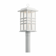 49832WH Kichler Arts and Crafts Mission Lantern Outdoor Post Mount 1Lt