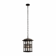 49833OZ Kichler Arts and Crafts Mission Outdoor Hanging Pendant 1Lt