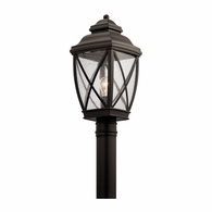 49843OZ Kichler Lodge Country Rustic Lantern Outdoor Post Mount 1Lt