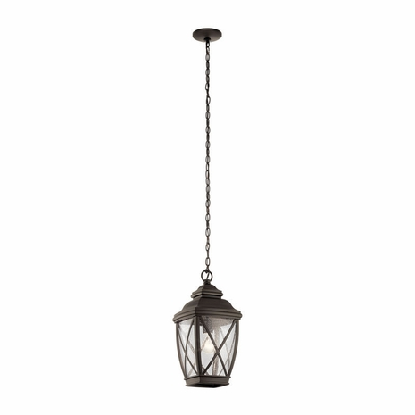 49844OZ Kichler Lodge Country Rustic Outdoor Hanging Pendant 1Lt