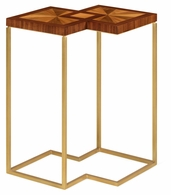 500006-WLG Jonathan Charles Fine Furniture JC Modern - Eclectic Double Diamond Bookmatched Walnut Side Table