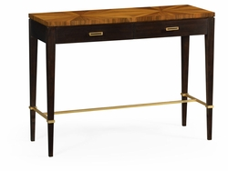 500009-WLG Jonathan Charles Fine Furniture JC Modern - Eclectic Bookmatched Walnut Console Table